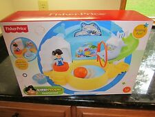 Fisher Price Little People Aquarium Visit Dolphin Slide pool Koby fish NEW park