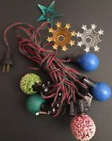 Vintage 1950's - 60's Christmas Light bulbs Outside Decor Retro  ++ RARE