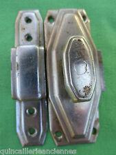 Targette gâche métal chromé verrou Idéale France Déposé occasion 8,5 x 3 cm