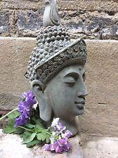 Adorabile bella Buddha Statua Testa per la casa o in giardino. da sius
