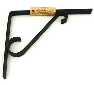 Pair Modena Forge Wrought Iron Shelf Brackets New Old Stock Handmade Made in USA