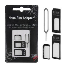 For iPhone 4 in1 Nano SIM Card to Micro Standard Adapter Converter Adaptor 1set