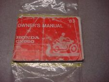 HONDA OEM OWNER'S MANUAL CX 650 SILVER WING 1983 ENGLISH AND FRENCH VINTAGE
