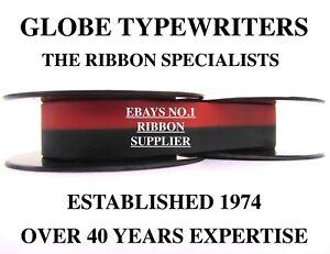 🌎 SMITH CORONA CORSAIR BLACK/RED HIGH QUALITY TYPEWRITER RIBBON *MANUAL REWIND*