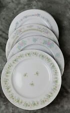 4 Vtg Pink Blue Floral Mismatched China Dinner Plates, Shabby Chic Wedding DPi2