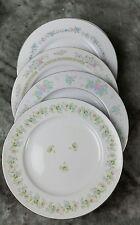 4 Vtg Pink Blue Floral Mismatched China Dinner Plates, Shabby Chic Wedding DPi3