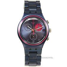 Swatch Uhr Irony Chrono BLUE FUCHSIA CIRCLE (YCN4007AG) (NEU + OVP) SEHR SELTEN!