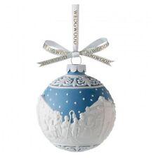 Wedgwood Blue Jasperware Christmas Carol Singers Ball Ornament 091574209623