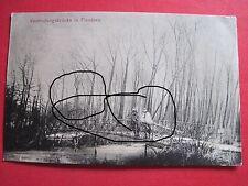 Original Foto,Feldpost Soldaten auf Brücke in Flandern 1917 Mun.-Kol.u.Trains 23