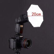 "8"" Flash Strobe Octagon Soft Box Diffuser for Photo Studio Speedlite Canon 580EX"