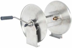 "Heavy Duty Stainless Steel Power Washer Pressure Hose Reel 40 Metre X 3/8"" Hose"