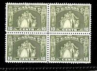 CANADA 1934 LOYALISTS  MONUMENT SCOTT# 209  BLOCK OF VF MNH, US CAT. $210.00