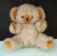 Vintage Teddy Bear Plush Unusual Cheeky Look Character Toy Bear Korea.