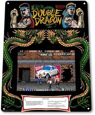 "TIN SIGN ""Double Dragon Arcade"" Game Room Art Marquee Console Metal Decor A336"