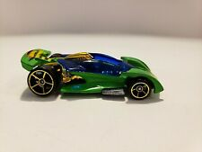 2001 Hot Wheels 1/64 Green Diecast Open Road-Ster Car