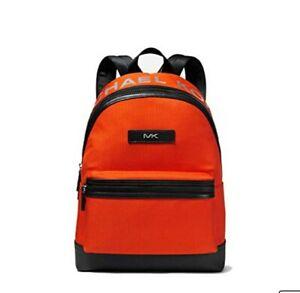 MICHAEL KORS Rucksack Backpack KENT SPORT Laptopfach Tasche Bag Orange / Schwarz