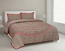 100% Cotton King Size Bedsheet Home Decor Decorative Tapestry with Pillow Covers