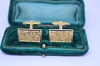 Vintage Gold cufflinks with an Art Deco style #C1100
