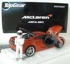 Top Gear's 2011 Mclaren MP4-12C Minichamps  519101330 With Stig Figure 1/18 HTF