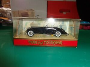 Matchbox Models of Yesteryear Black 1938 Mercedes Benz 540K Y-20 Die Cast 1:45