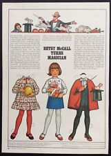 """Vintage Betsy McCall Mag. Paper Doll, Betsy McCall Turns Magician"""" March 1978"""