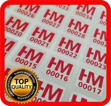 Ihr Logo und Text auf 1500 Hologramm Etiketten Garantie Siegel,Aufkleber 10x10mm