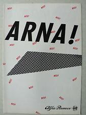 Prospekt Alfa Romeo Arna 1.2, 1.3 ti, ca.1984, 4 Seiten