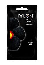 Velvet Black DYLON Hand Wash Fabric Clothes Dye 50g Textile Permanent Colour