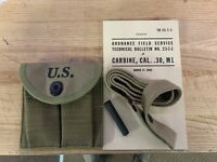 MANUAL SLING OILER BUTT STOCK AMMO POUCH BOYT 43 M1 CARBINE RIFLE ACCESSORIES