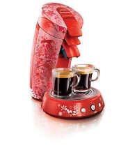 Deseigner Senseo Kaffeepadmaschine HD7823 / Tord Boontje, 3 Padhalter, Garantie