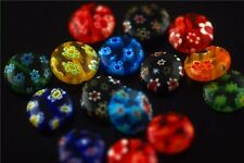 Bulk 50ps Colorized Glass Flower Millefiori Beads Craft Jewelry Findings 10mm