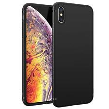 "For Apple iPhone XS (5.8"") Case Slim Silicone Ultra Soft Gel Cover - Matte Black"