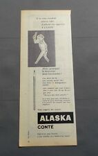 PUB PUBLICITE ANCIENNE ADVERT CLIPPING 040617 CRAYON ALASKA CONTÉ POUR ECRIRE...