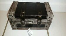 Grey and brown small decorative trunk - hobby lobby