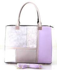 New Large Womens Designer Checked Leather Style Snakeskin Handbag  Shoulder Bag