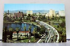 California CA Los Angeles Wilshire Boulevard Mac Arthur Park Postcard Old View
