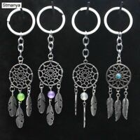 Dream Catcher Keychain Feather Charm Keyring Key Chain Ring Fashion Bag Pendant