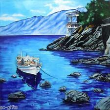 "Pintado A Mano De Cerámica, Azulejo De Pared ""atracado"" por Steve Thomas Arte 8 ""x 8 Pulgadas En Caja"