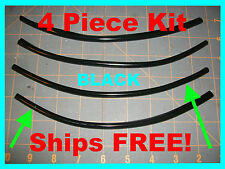 PROTECTOR Trim (4 piece kit) 8'' BLACK  car DOOR EDGE GUARDS fits: (NISSAN)