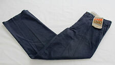 DOCKERS Mens Blue D2 Straight Flat Front 5 Pocket Worn Chino Pants NWT 30 x 30