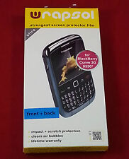 Wrapsol UPHBB014 Strongest Screen Protector Film for Blackberry Curve 3G 9330