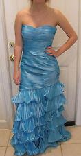 CAMILLE LA VIE Stunning Aqua Prom Dress Size 8 Petite
