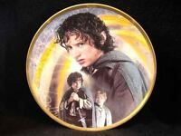 """8"""" WEDGWOOD DANBURY MINT LORD OF THE RINGS FRODO TWO TOWERS PLATE PLAQUE"""