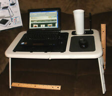 Fold Up Laptop Breakfast Tray Table w Cooling Fans Plus