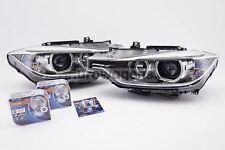 BMW 3 Series F30 11-15 Angel Eyes Xenon Look Headlights Set With Osram Bulbs