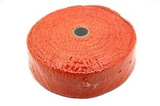 "CERAMIC FIBRE HEAT WRAP TAPE EXHAUST MANIFOLD, 2"" WIDTH, 2MM LENGTH 10M ORANGE"