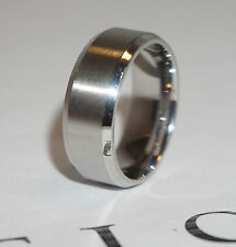 New 8mm Stainless Steel Ring Man Women Band Silver Size 14