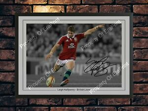 LEIGH HALFPENNY SIGNED RUGBY 2013 BRITISH LIONS MEMORABILIA A4 PHOTO PRINT