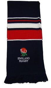 England Rugby Navy Embroidered Scarf