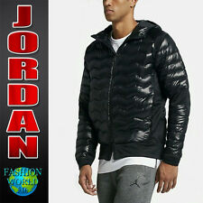 NIKE MEN'S SIZE 3XL JORDAN PERFORMANCE HYBRID HOODED DOWN JACKET  807947 BLACK